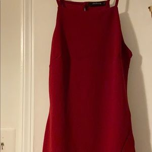 Papaya Red mini bodycon dress